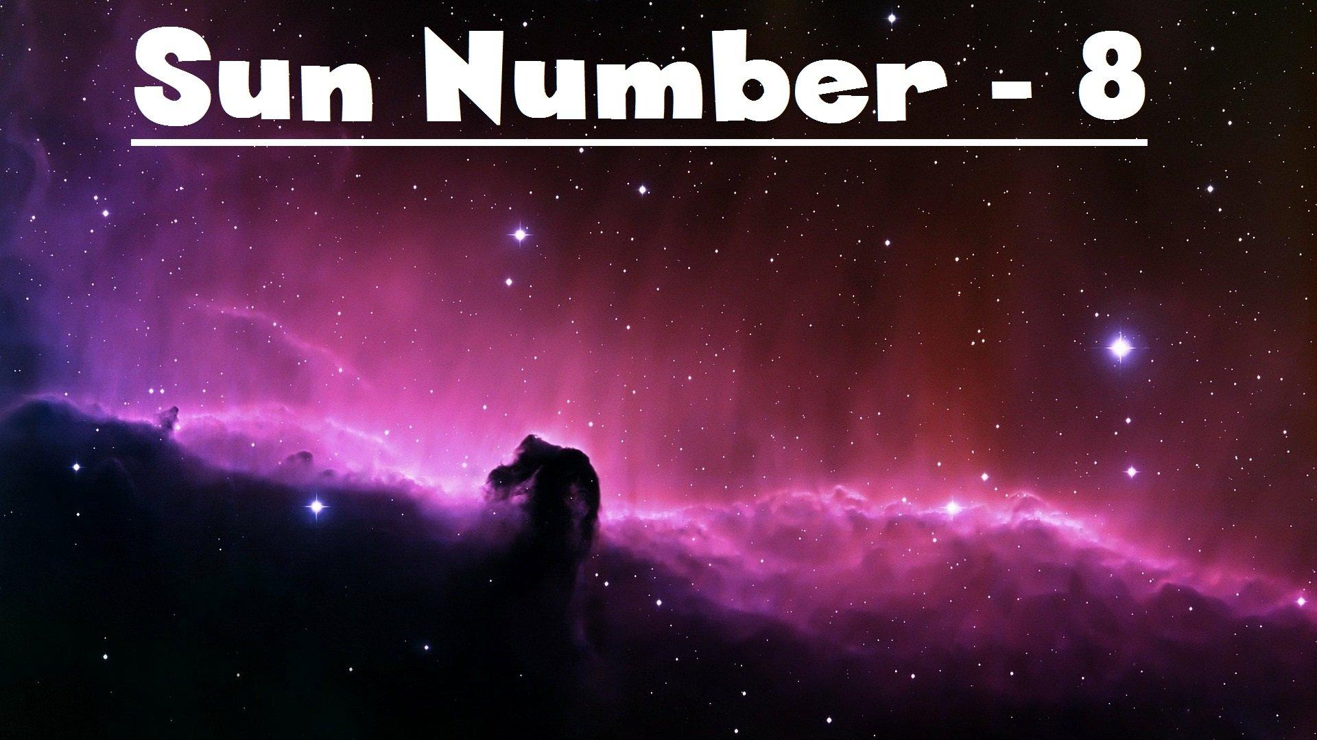 Sun number -8